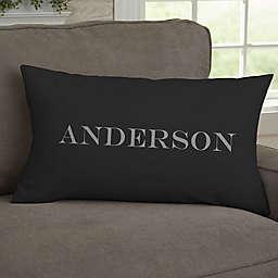 Our Monogram Personalized Lumbar Throw Pillow