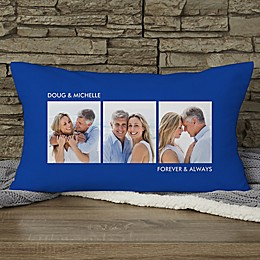 Picture Perfect Personalized Lumbar 3-Photo Pillow
