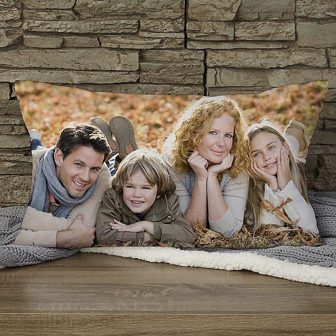 Alternate image 1 for Photo Memories Personalized Lumbar Throw Pillow
