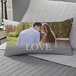 LOVE Personalized Lumbar Throw Pillow