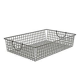 Spectrum™ Stowaway Large Storage Basket in Grey