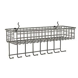 Spectrum™ Pegboard Basket and Hook Station in Grey