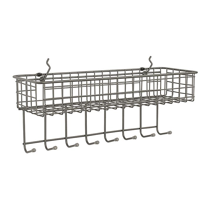 Pegboard Wire Basket Storage Display Container Shelf Shelves Hold Mount
