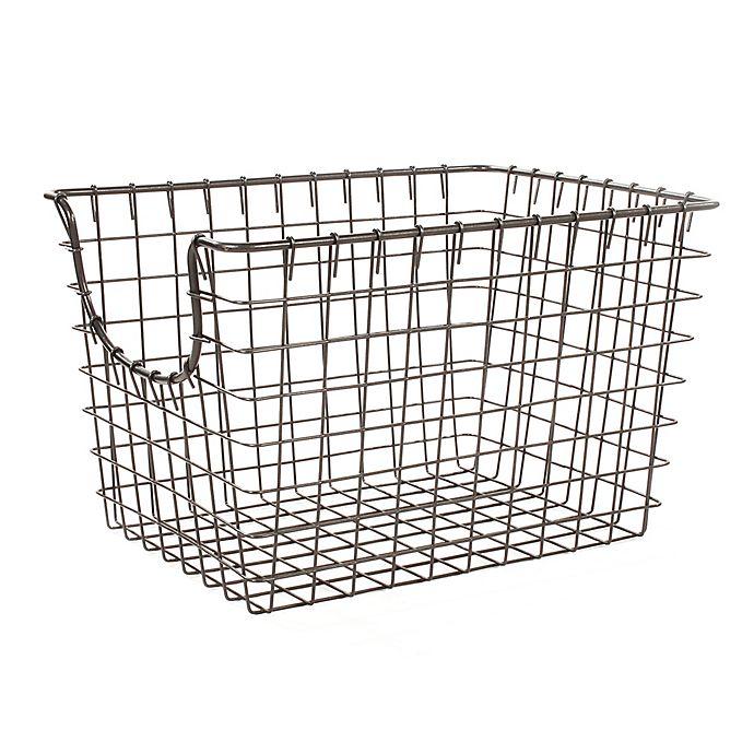 Alternate image 1 for Spectrum™ Small Metal Scoop Basket in Grey