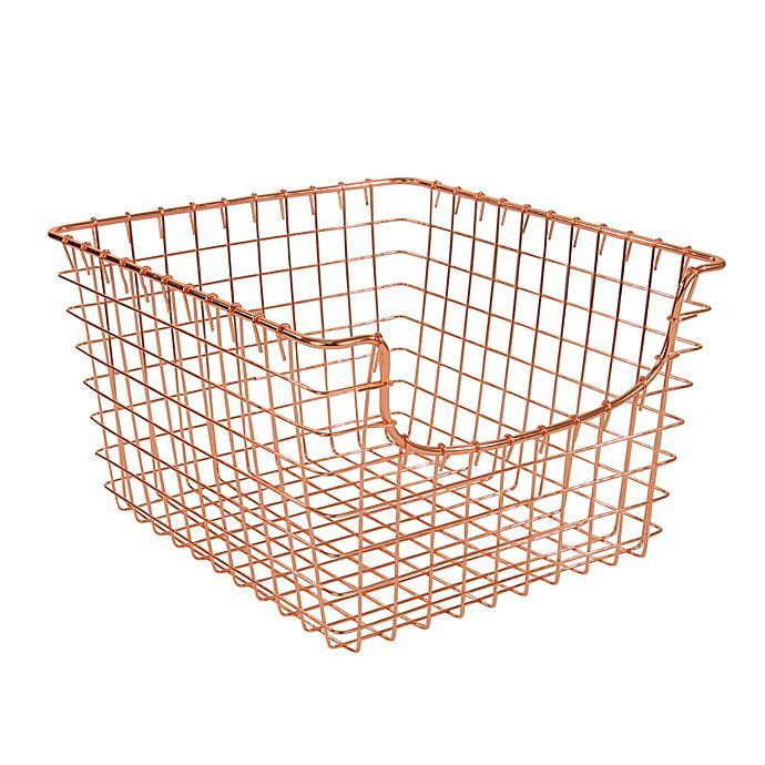 Alternate image 1 for Spectrum™ Medium Metal Scoop Basket in Copper