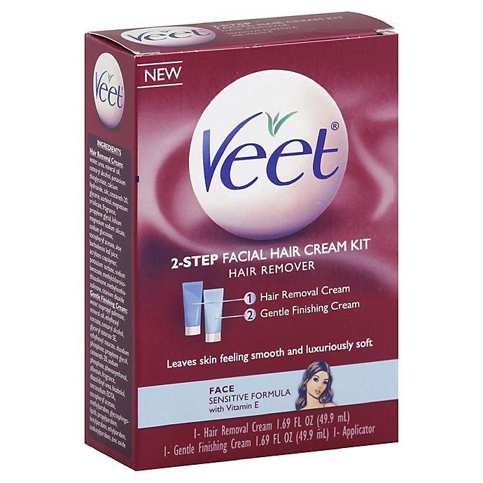 Veet 3 38 Oz 3 In 1 Face Cream Kit Hair Remover Bed Bath Beyond