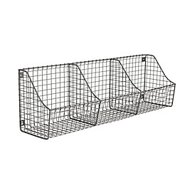 Spectrum® Wall Mount Triple Storage Basket in Grey