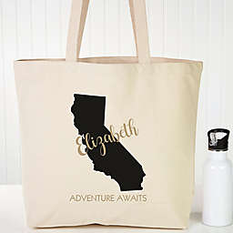 State Pride Personalized Canvas Tote
