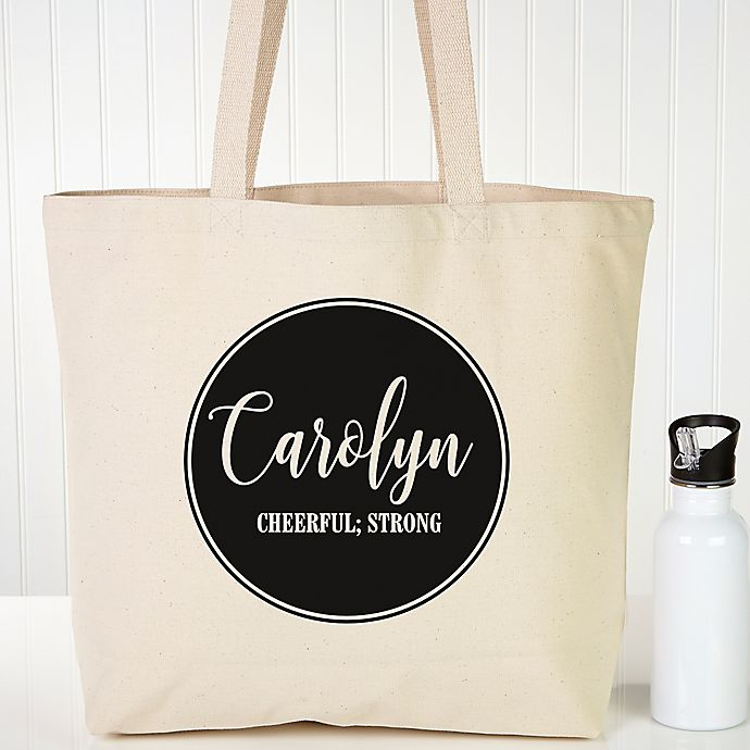 Name Meaning Personalized Canvas Tote