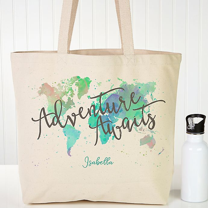 Alternate image 1 for The Journey Personalized Canvas Tote