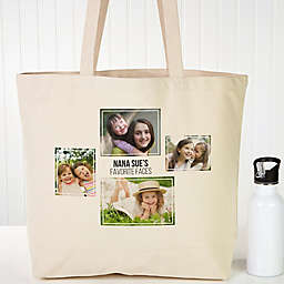 Four Photo Personalized Canvas Tote