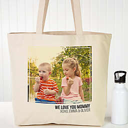 Photo Personalized Canvas Tote