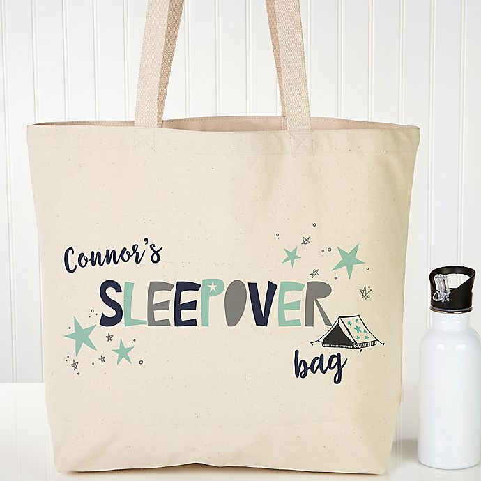Boys Sleepover Personalized Tote Bag