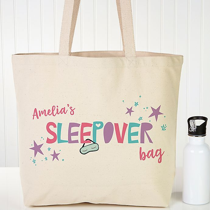 Alternate image 1 for Girls Sleepover Personalized Tote Bag