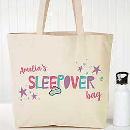 Girls Sleepover Personalized Tote Bag