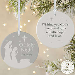 2-Sided Matte O Holy Night Personalized Ornament- Large
