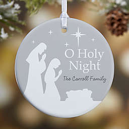 1-Sided Glossy O Holy Night Personalized Ornament- Small