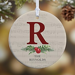 1-Sided Glossy Nostalgic Noel Personalized Ornament- Small