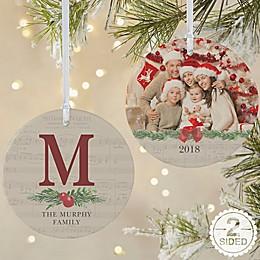 2-Sided Matte Nostalgic Noel Personalized Ornament- Large
