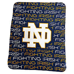 University of Notre Dame Sherpa Fleece Throw