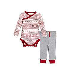 Burt's Bees Baby® 2-Piece Fair Isle Kimono and Footless Pant Set