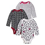 Lamaze® Newborn 3-Pack Black Rose Bodysuits