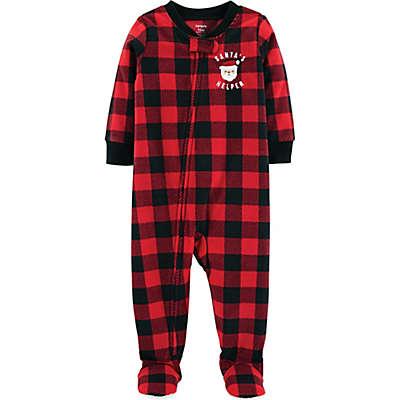 carter's® Buffalo Plaid Fleece Christmas Pajamas in Red/Black