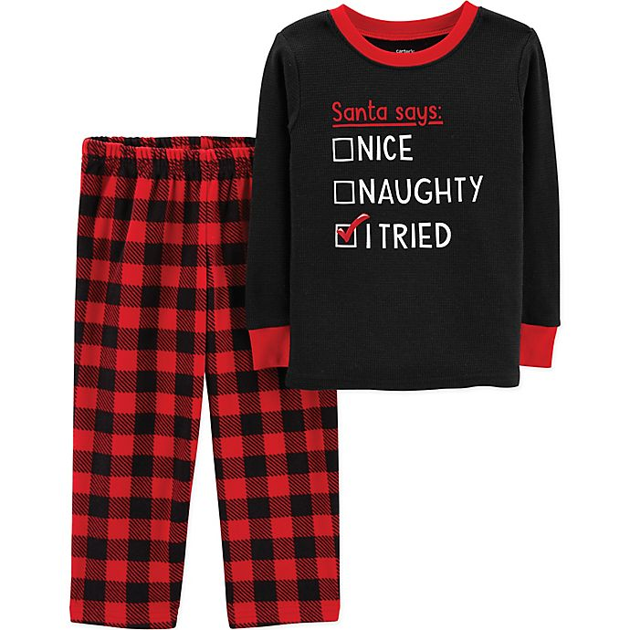 carter's® 2-Piece Naughty, Nice, I Tried Buffalo Plaid ...