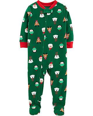 carter's® Fleece Christmas Pajamas in Green