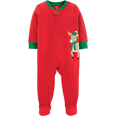 carter's® Reindeer Fleece Christmas Pajamas in Red