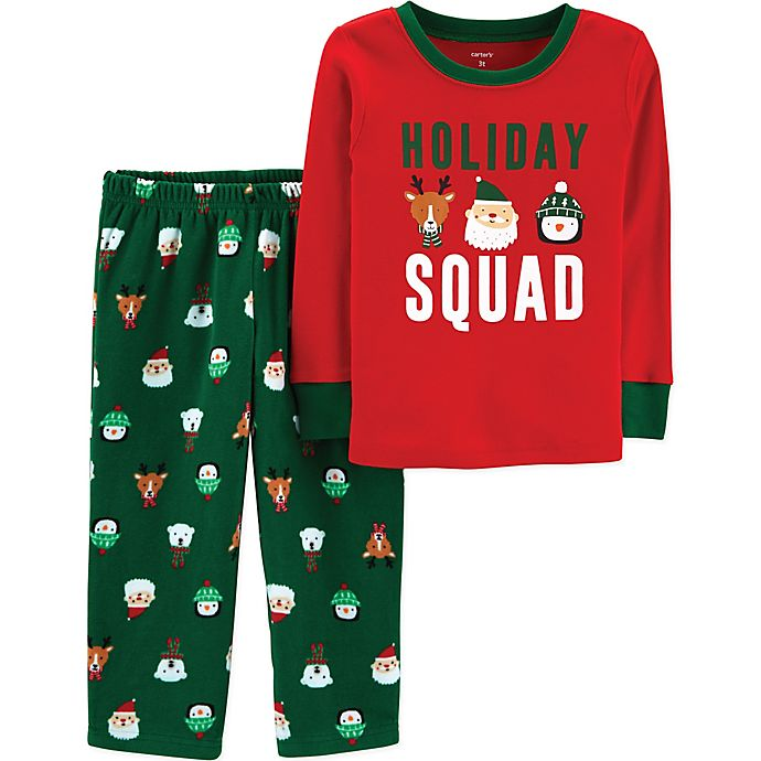 bd4d5000d8ad carter s® 2-Piece Holiday Squad Christmas Pajama Set in Red Green ...