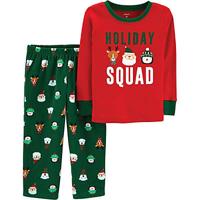 carter's® 2-Piece Holiday Squad Christmas Pajama Set in Red/Green