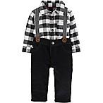 carter's® Size 9M 3-Piece Suspender Set in Black/White