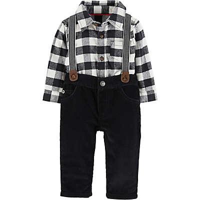 carter's® 3-Piece Suspender Set in Black/White