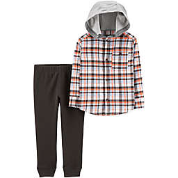 carter's® Hooded Flannel and Pants Set