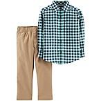carter's® Size 18M Plaid Shirt and Khaki Pants Set