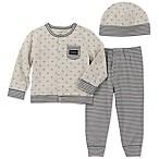 Calvin Klein Size 3-6M 3-Piece Take Me Home Cardigan Set in Grey
