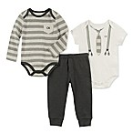 Calvin Klein Size 3-6M Suspenders Bodysuit and Pants Set in Ivory/Navy