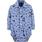 OshKosh B'Gosh® Size 3-6M Chambray Print Bodysuit in Blue
