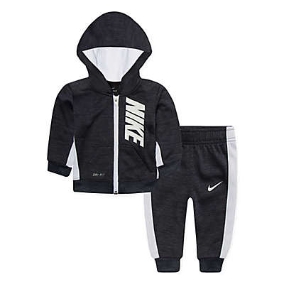 Nike® 2-Piece Dri-FIT Zip-Front Hoodie and Jogger Pant Set in Black