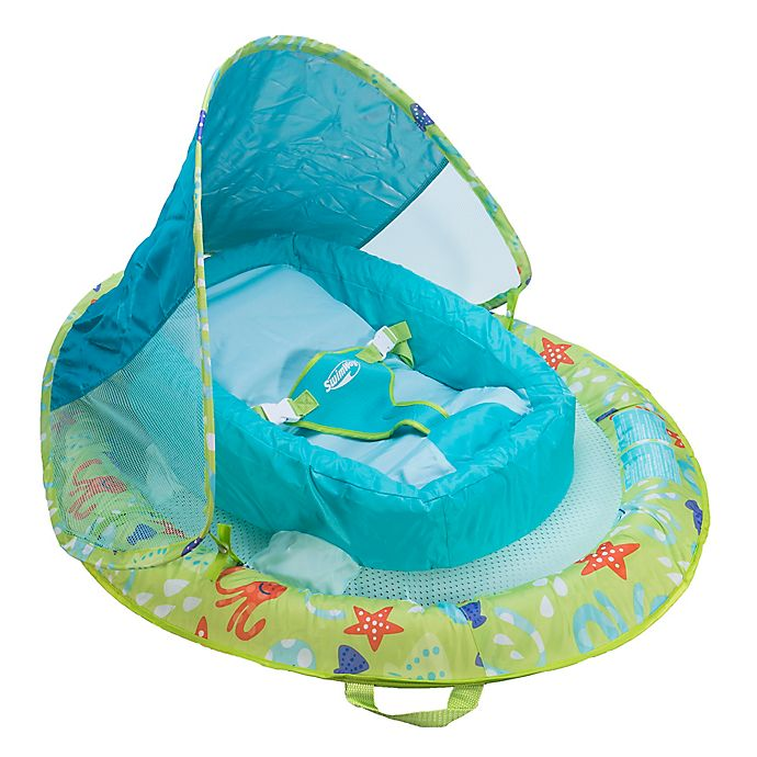 Alternate image 1 for Octopus Infant Baby Spring Float with Sun Canopy in Green