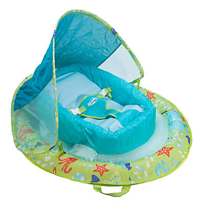 Octopus Infant Baby Spring Float with Sun Canopy in Green