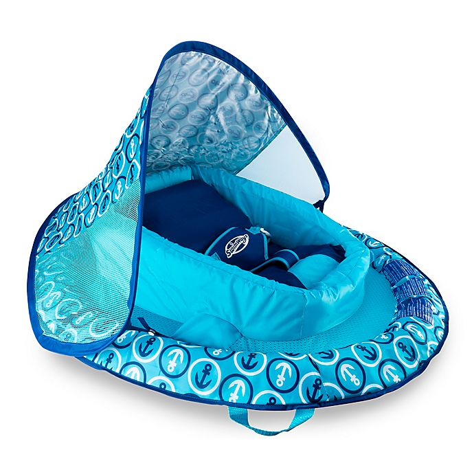 Alternate image 1 for Anchor Infant Baby Spring Float with Sun Canopy in Blue