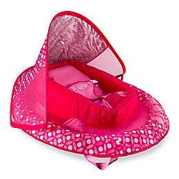 Infant Baby Spring Float with Sun Canopy in Pink