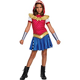 DC Super Hero Wonder Woman Hoodie Dress Child's Halloween Costume