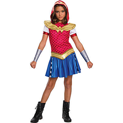 DC Super Hero Wonder Woman Hoodie Dress Child's Halloween Costume