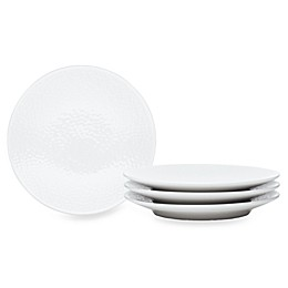 Noritake® White on White Snow Round Appetizer Plates (Set of 4)