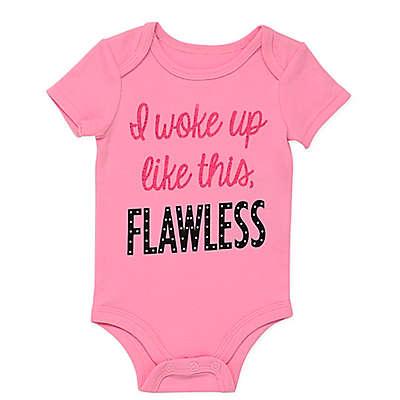 "BWA® ""Flawless"" Short Sleeve Bodysuit in Pink"
