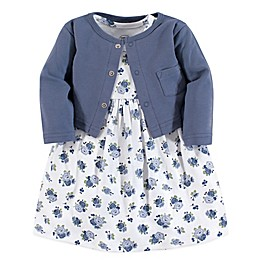 Luvable Friends® Floral 2-Piece Dress & Cardigan Set in Blue