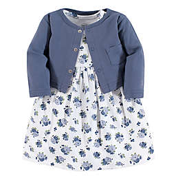 Luvable Friends® Size 12-18M Floral 2-Piece Dress & Cardigan Set in Blue